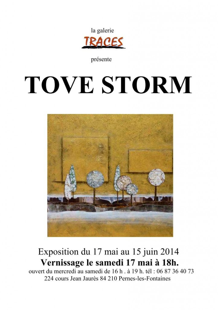 AFFICHE EXPOSITION TOVE STORM GALERIE TRACES